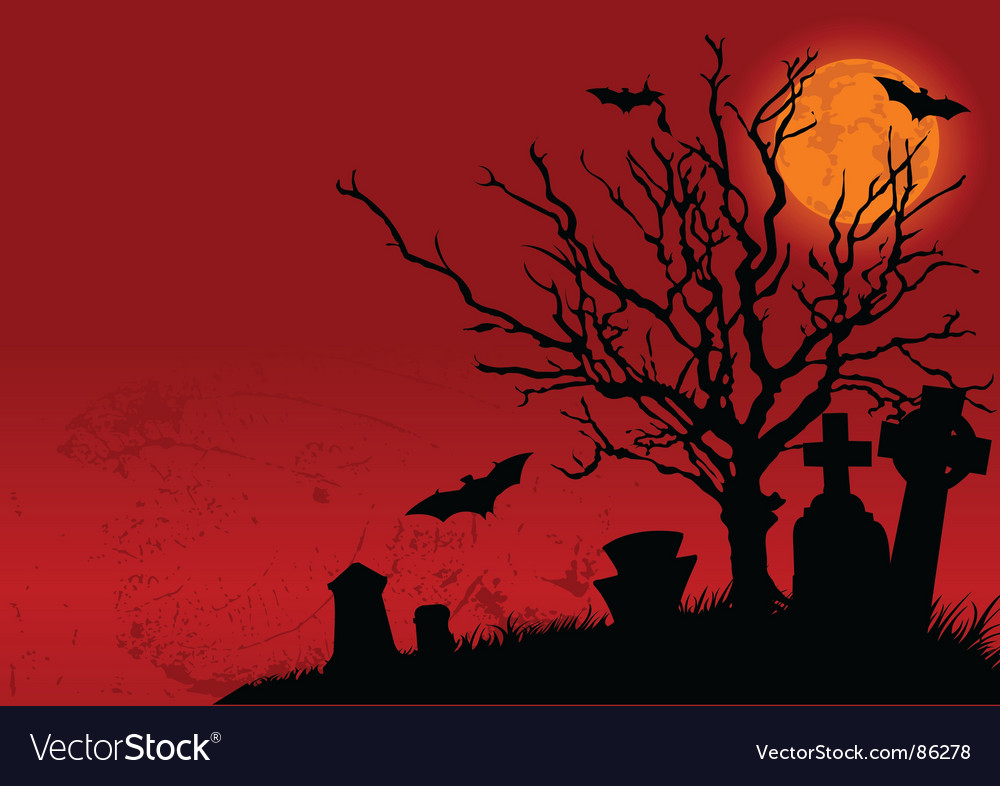 Halloween landscape vector   Price: 1 Credit (USD $1)