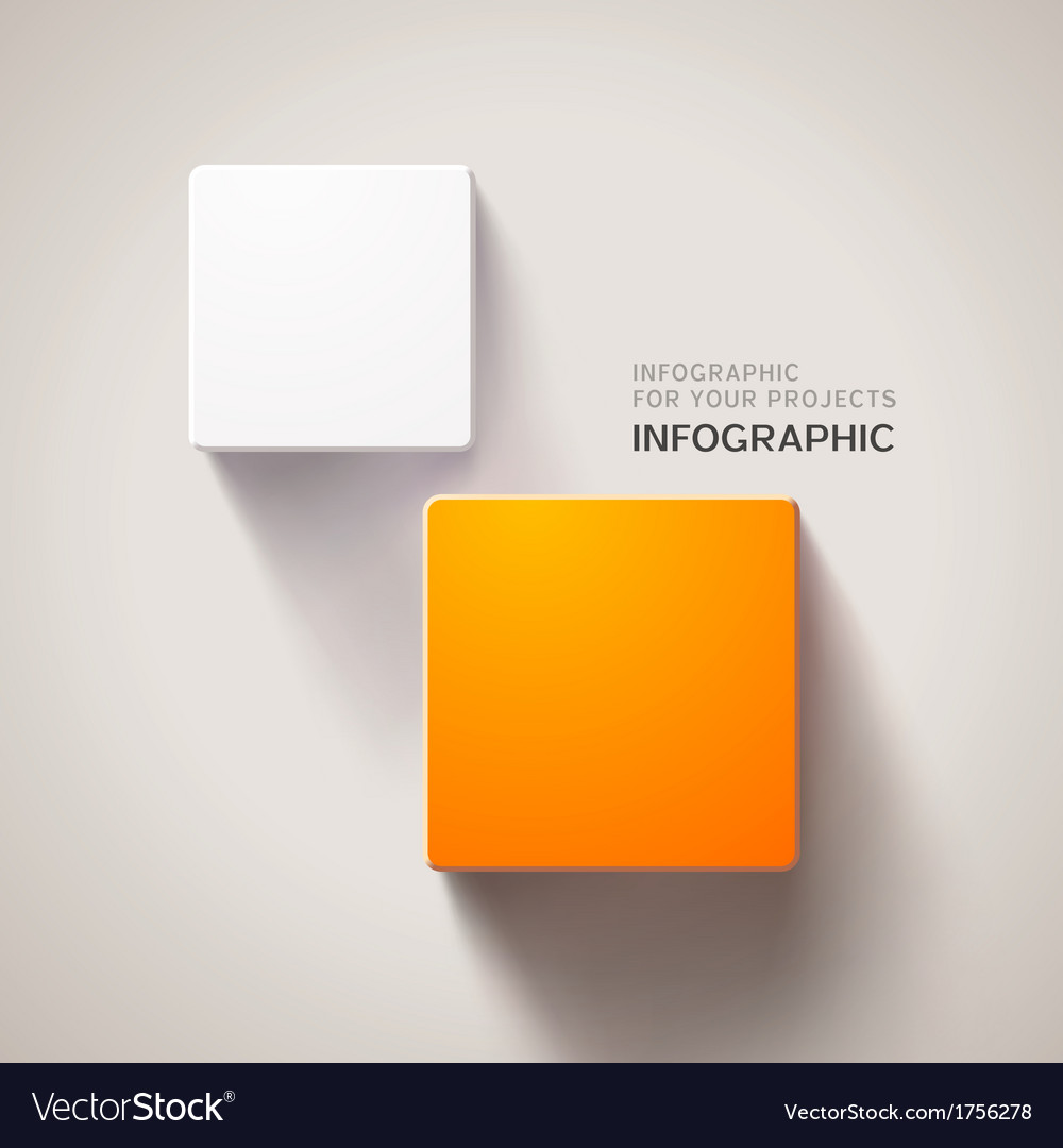 Infographic design with two elements vector | Price: 1 Credit (USD $1)