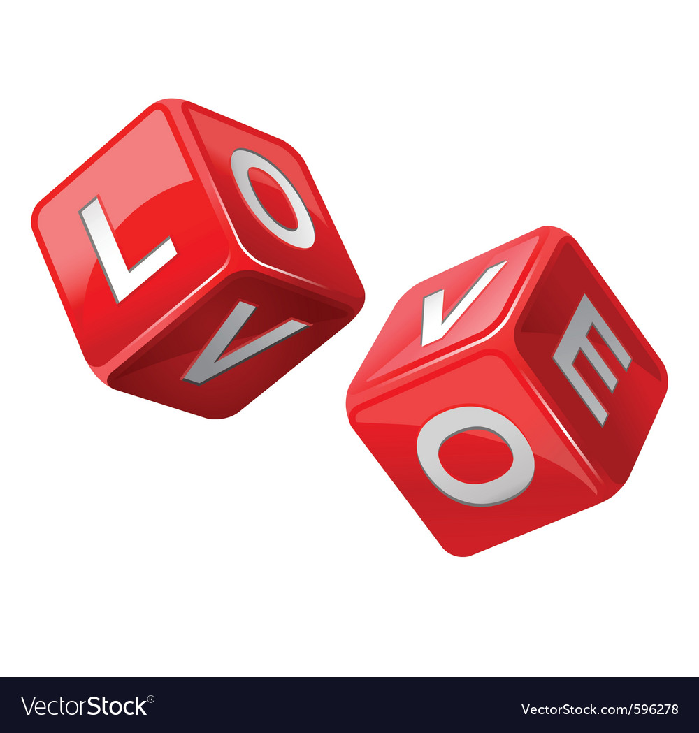 Love dice vector | Price: 3 Credit (USD $3)