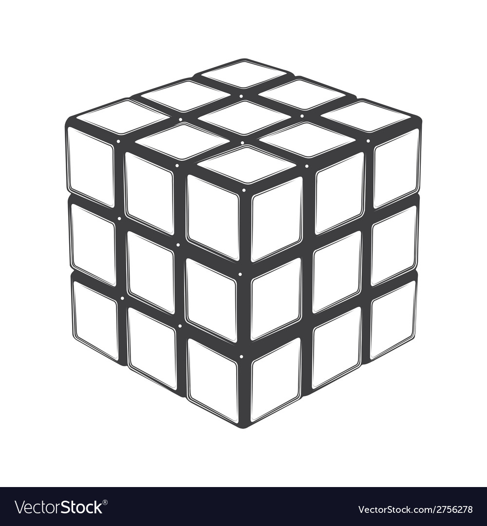 Rubiks cube vector | Price: 1 Credit (USD $1)