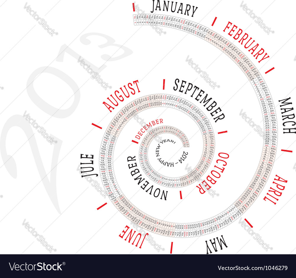 2013 calendar spiral vector | Price: 1 Credit (USD $1)