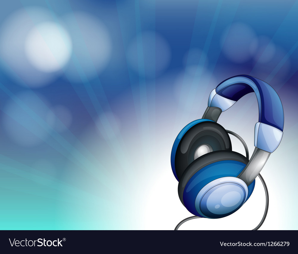 A blue headset vector | Price: 1 Credit (USD $1)