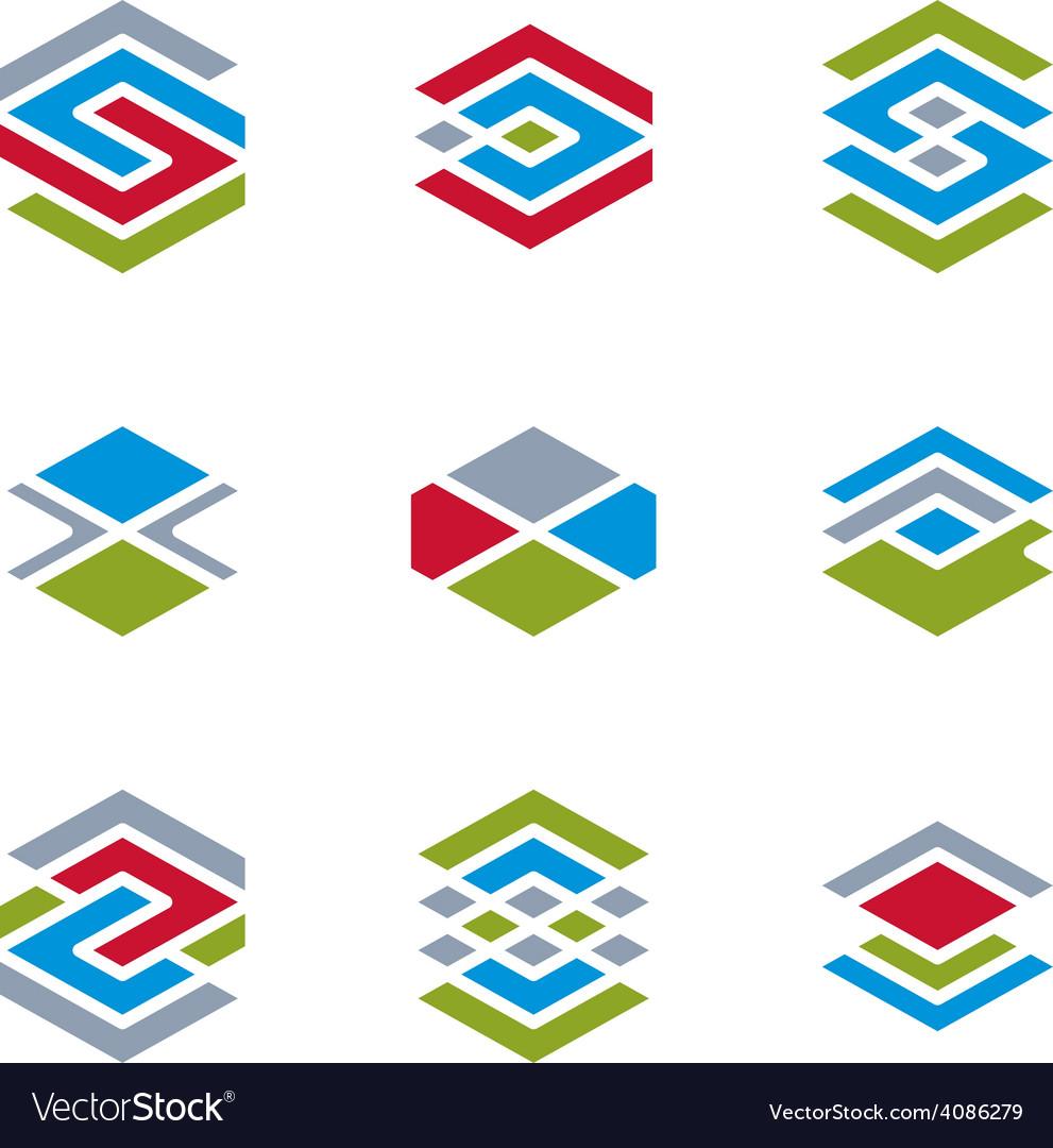 Abstract unusual symbols set creative stylish icon vector   Price: 1 Credit (USD $1)
