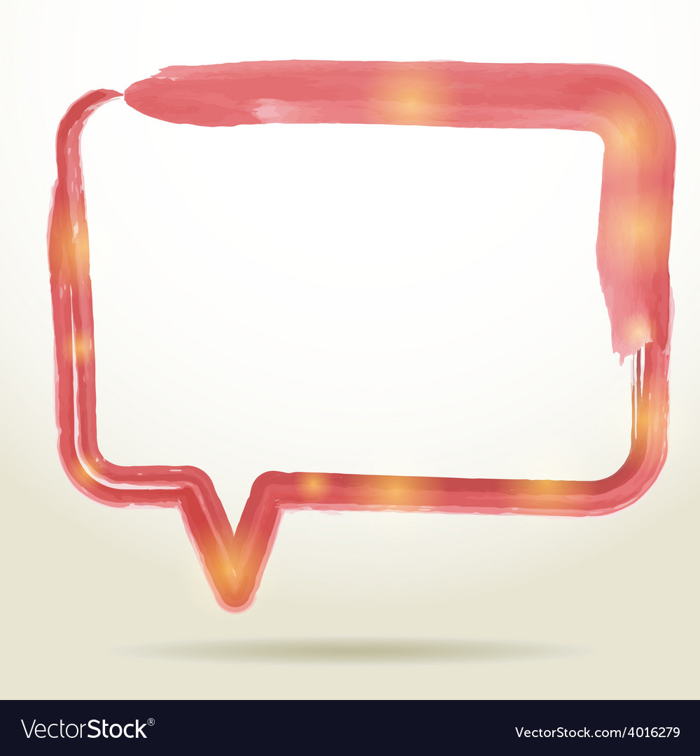 Blank empty white speech bubbles watercolor on vector | Price: 1 Credit (USD $1)