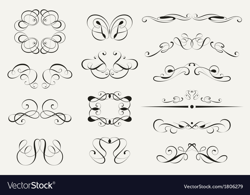 Calligraphy set vector | Price: 1 Credit (USD $1)