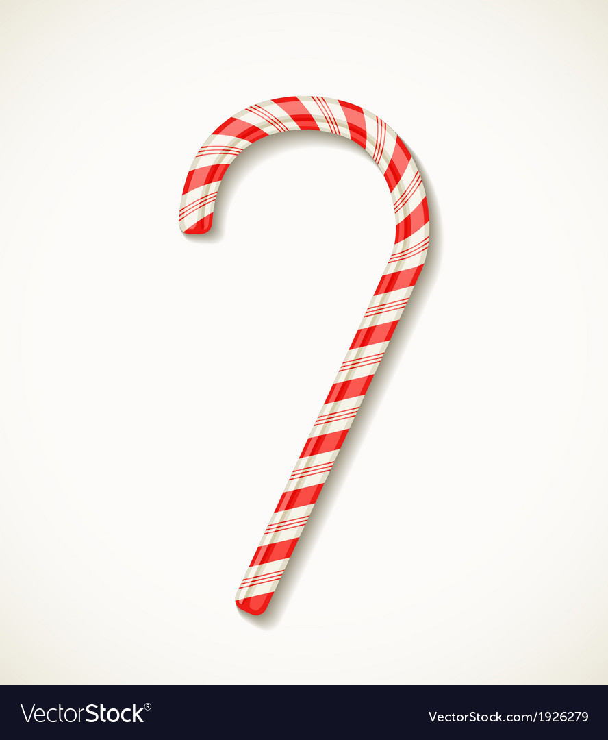 Candy cane isolated on white vector | Price: 1 Credit (USD $1)
