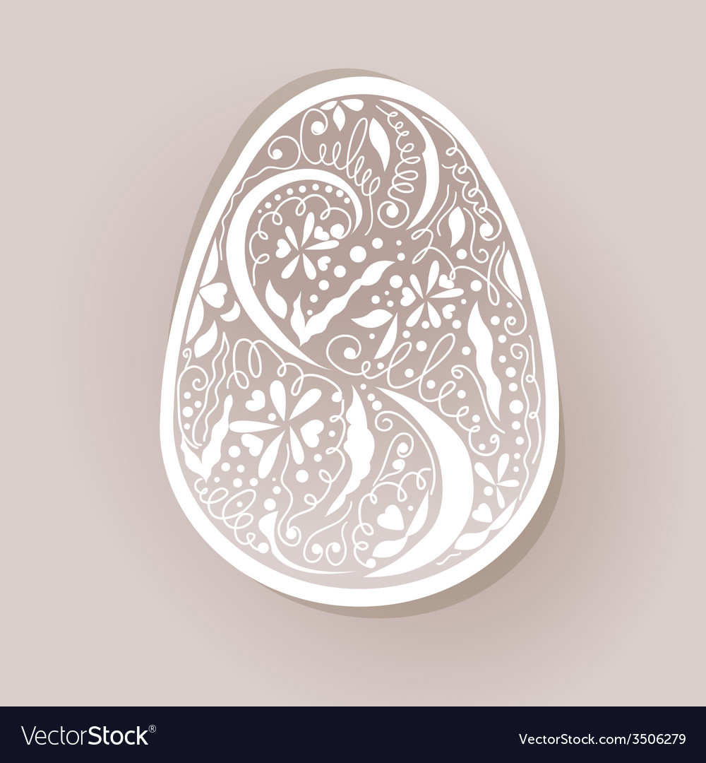 Card with painted egg vector | Price: 1 Credit (USD $1)