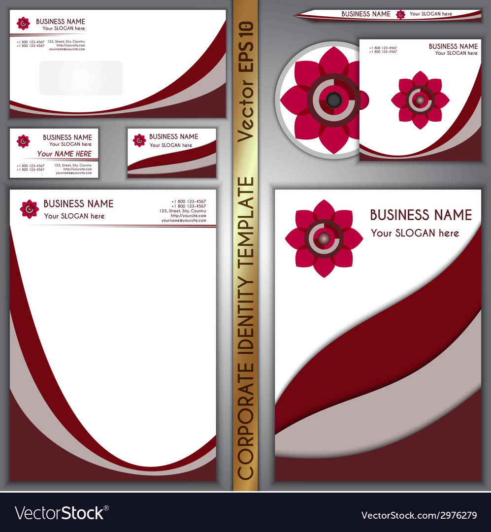 Corporate brand purple template vector | Price: 1 Credit (USD $1)