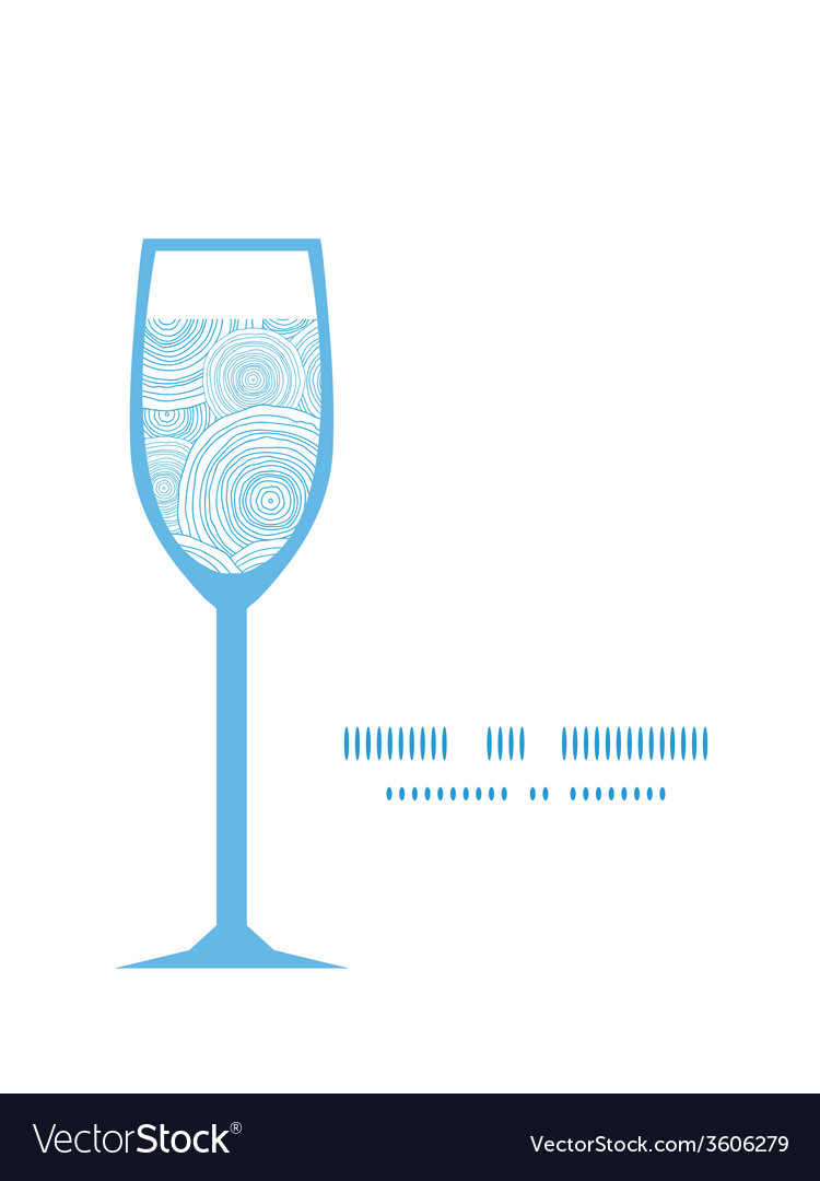 Doodle circle water texture wine glass silhouette vector | Price: 1 Credit (USD $1)