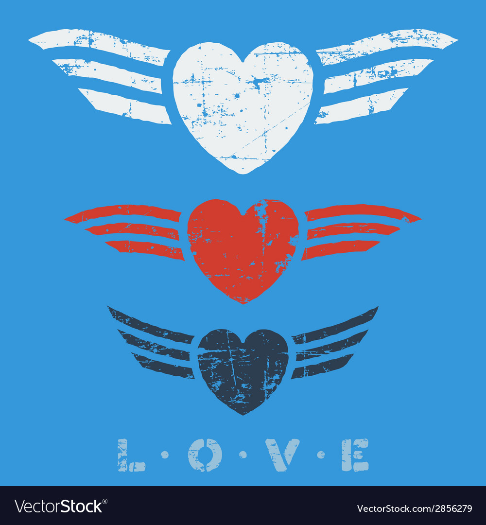 Flat graphic love emblems vector | Price: 1 Credit (USD $1)