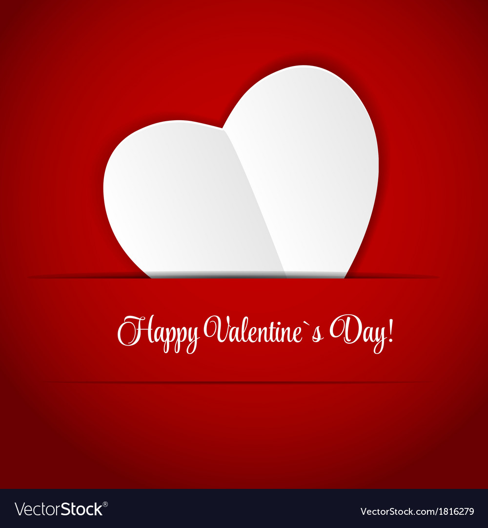 Happy valentines day card with heart vector   Price: 1 Credit (USD $1)