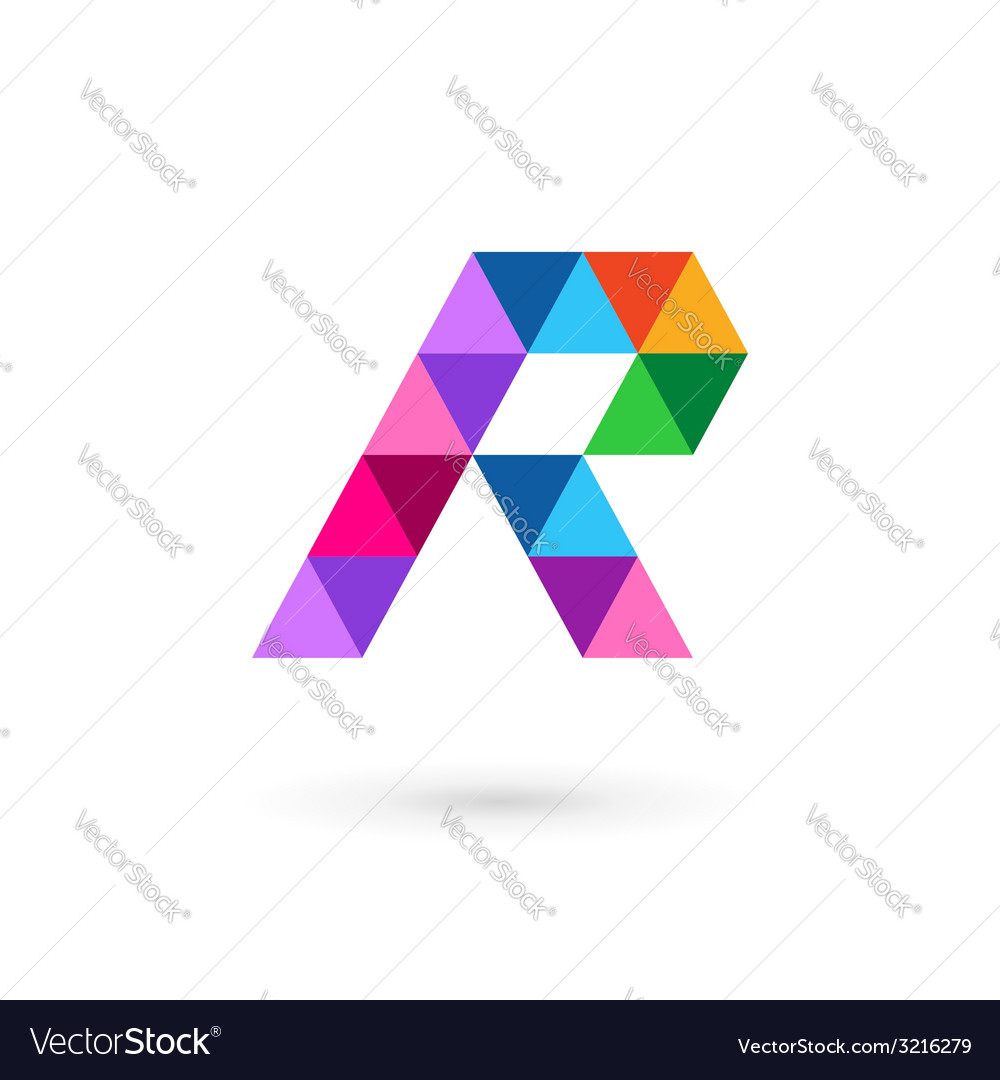 Letter r mosaic logo icon design template elements vector | Price: 1 Credit (USD $1)