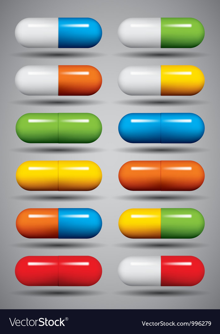Medical pills set vector | Price: 1 Credit (USD $1)
