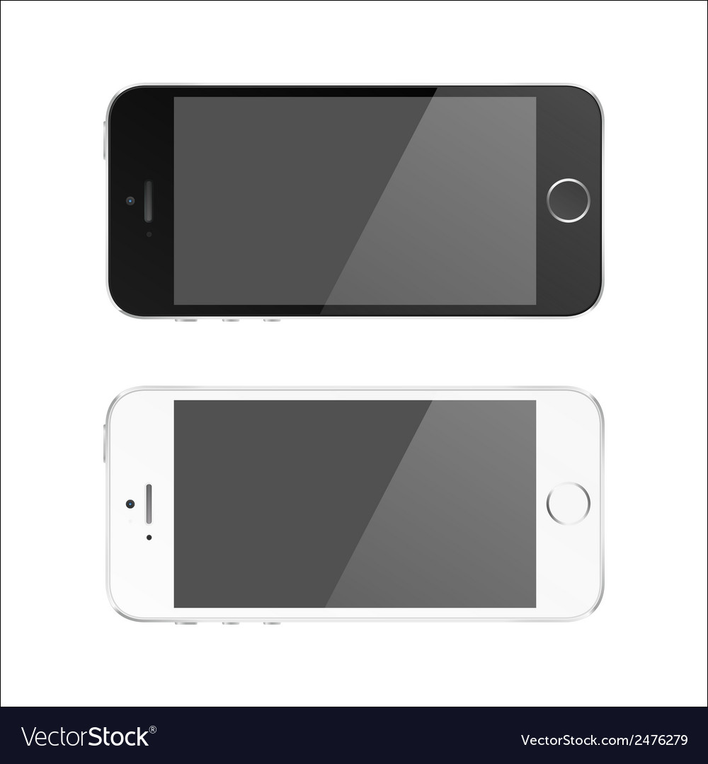 Perfectly detailed modern smart phone isolation vector | Price: 1 Credit (USD $1)