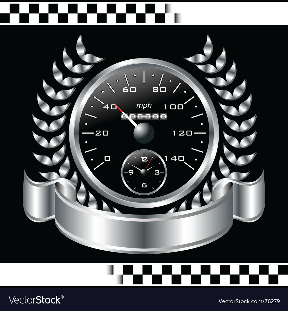 Speedometer racing shield vector | Price: 1 Credit (USD $1)