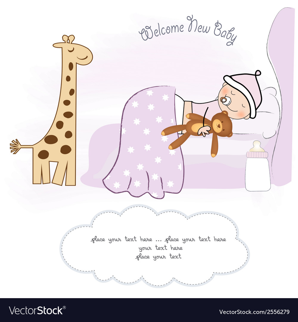 Welcome new baby girl vector | Price: 1 Credit (USD $1)