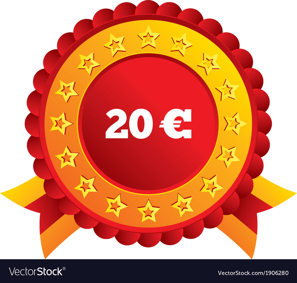 20 euro sign icon eur currency symbol vector | Price: 1 Credit (USD $1)