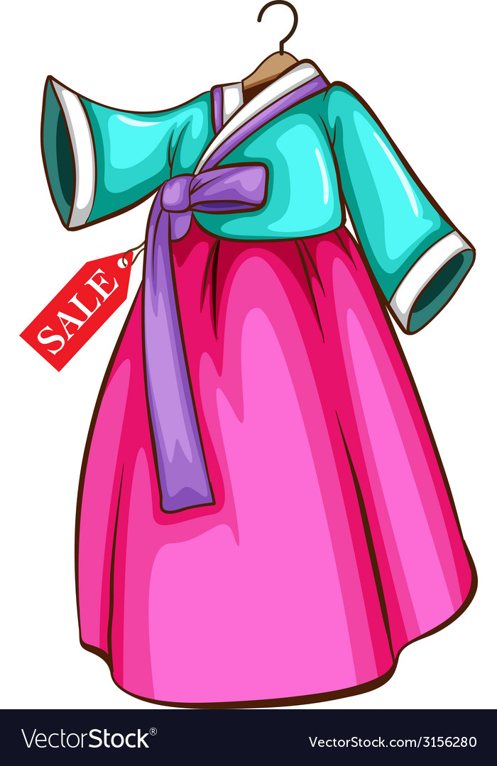 A simple dress for sale vector | Price: 1 Credit (USD $1)
