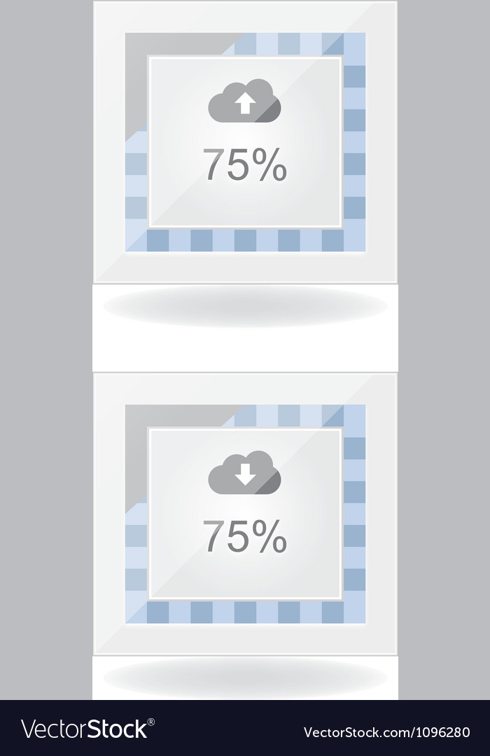 Cloud download and upload progress vector | Price: 1 Credit (USD $1)