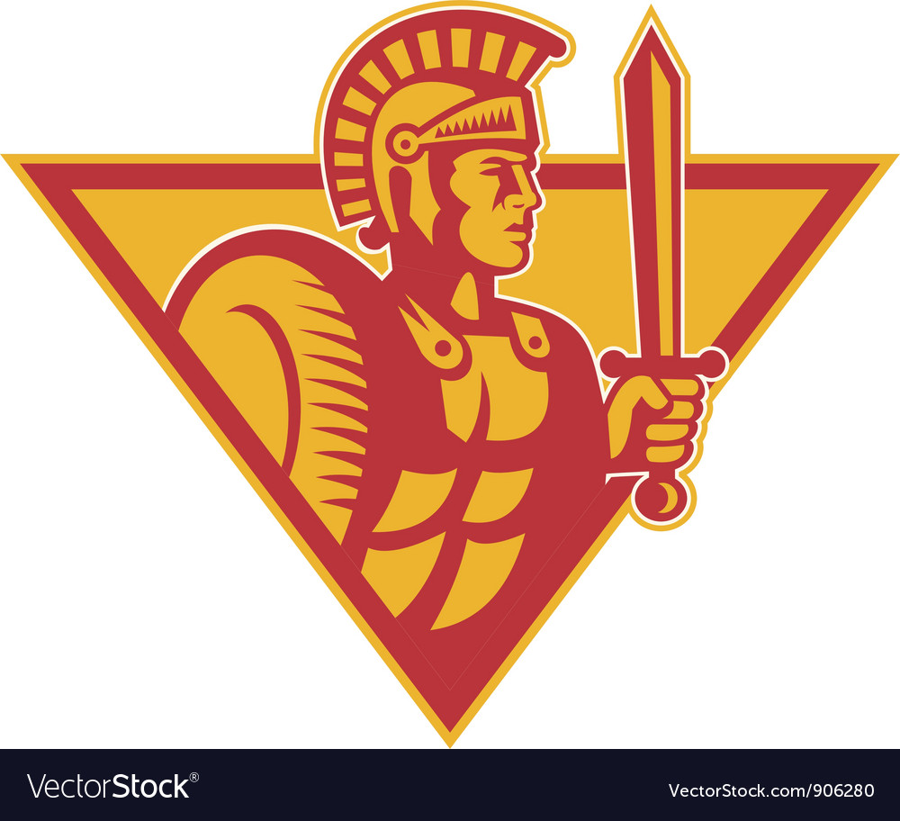 Roman centurion soldier vector | Price: 3 Credit (USD $3)