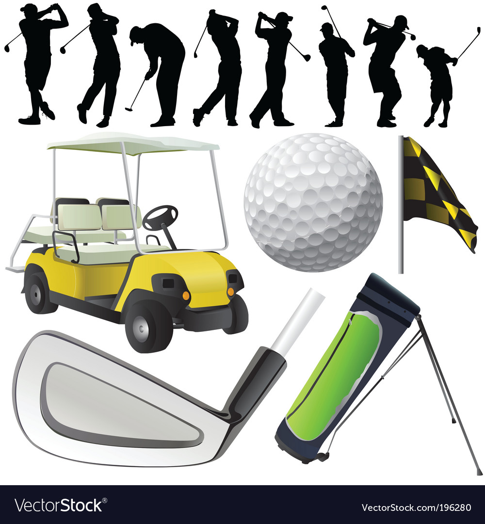 Set of golf vector | Price: 1 Credit (USD $1)