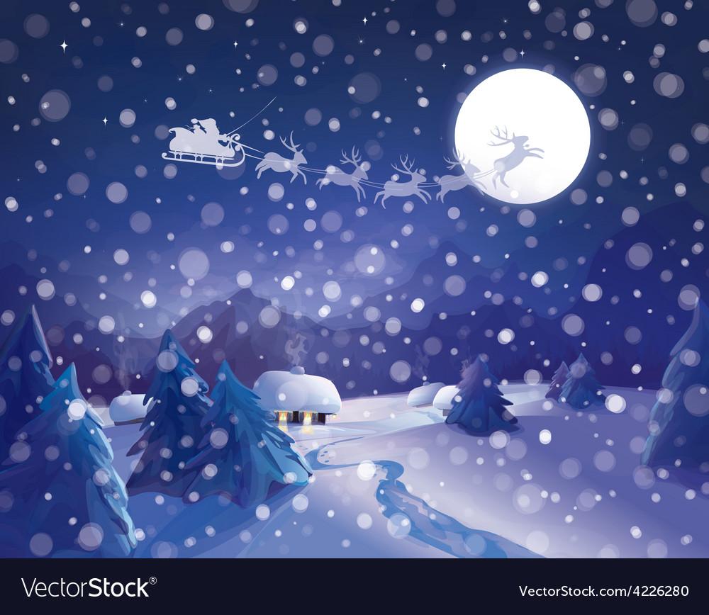 Winter santa vector | Price: 3 Credit (USD $3)