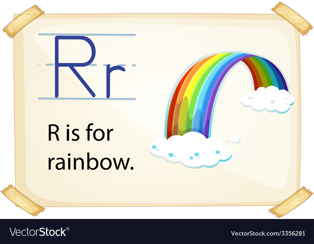 A letter r for rainbow vector | Price: 1 Credit (USD $1)