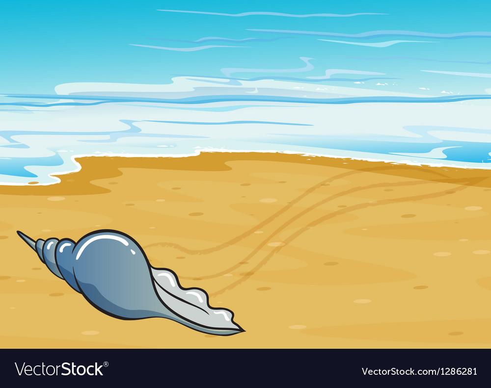 A shell at the seashore vector | Price: 1 Credit (USD $1)