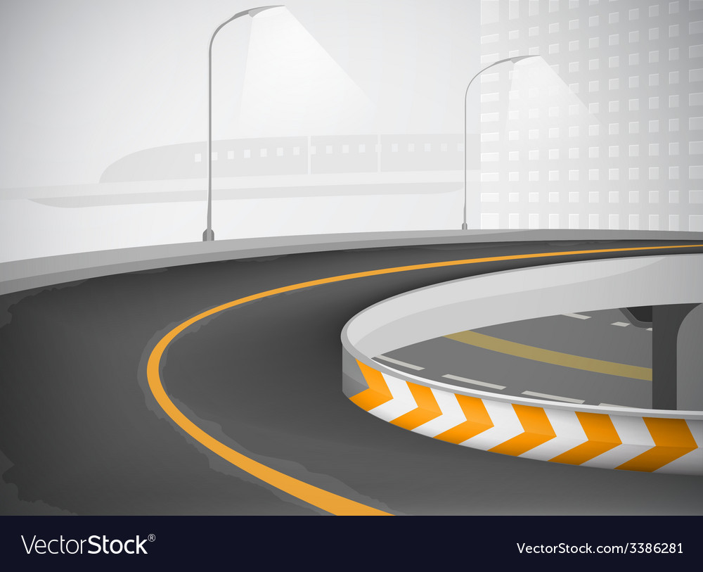 Expressway and townscape background vector | Price: 1 Credit (USD $1)