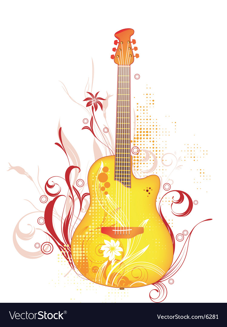Funk guitar graphic vector | Price: 3 Credit (USD $3)