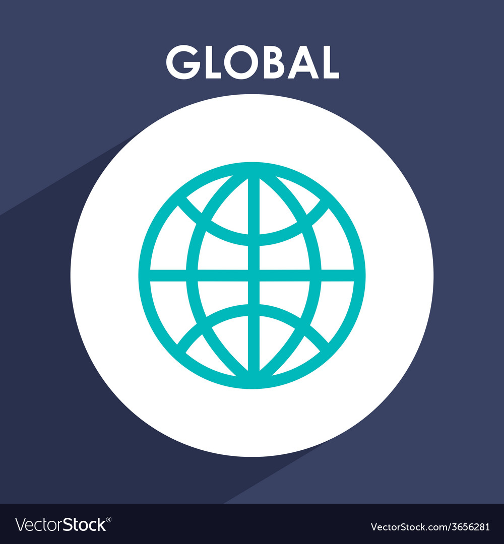 Global icon vector | Price: 1 Credit (USD $1)