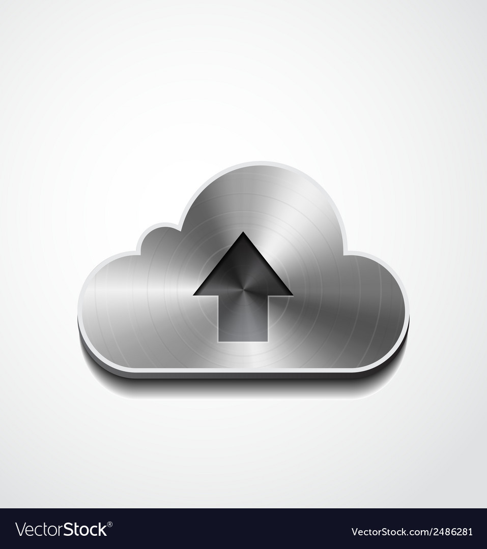 Metal button cloud isolated vector | Price: 1 Credit (USD $1)