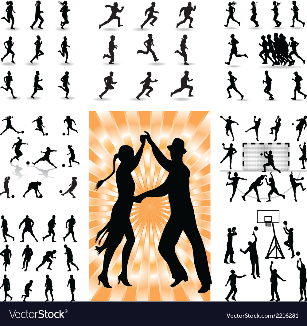 Mix people silhouette vector | Price: 1 Credit (USD $1)