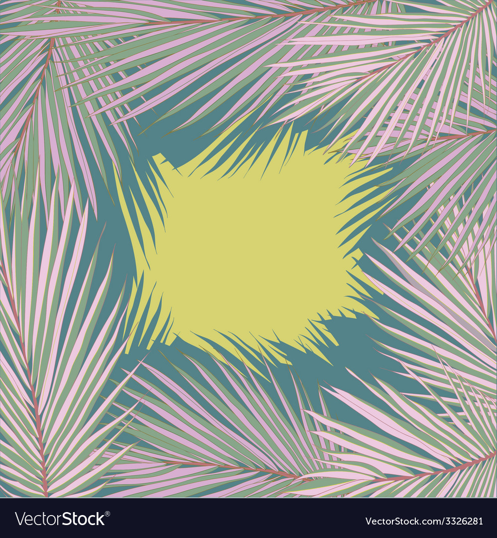 Palmleaves7 vector | Price: 1 Credit (USD $1)