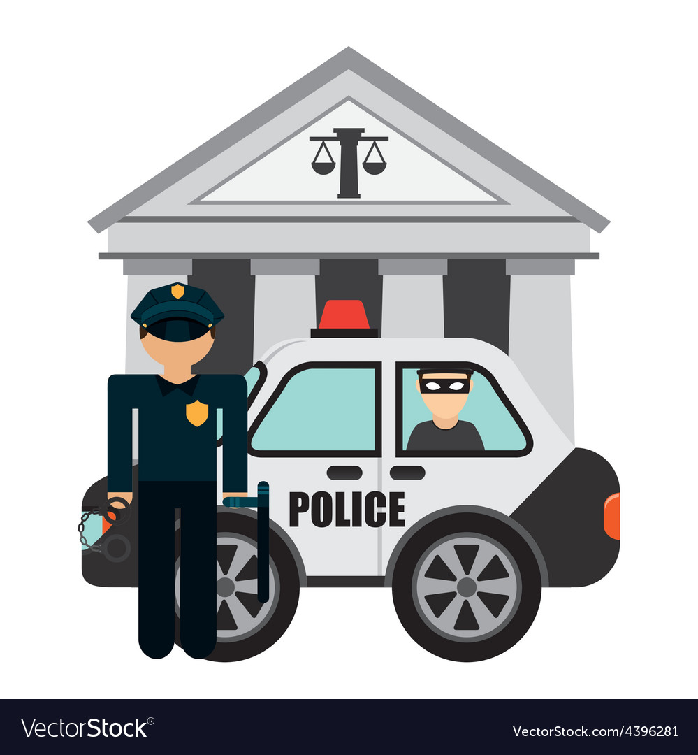 Police man vector | Price: 1 Credit (USD $1)