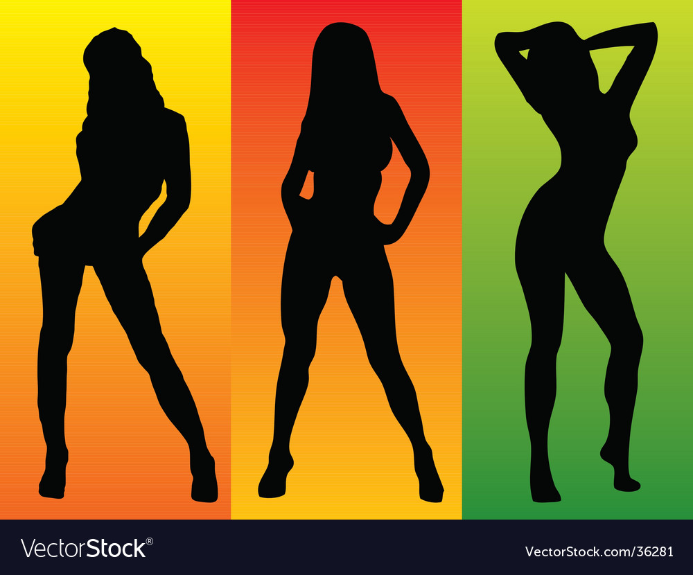 Sexy three colour vector | Price: 1 Credit (USD $1)