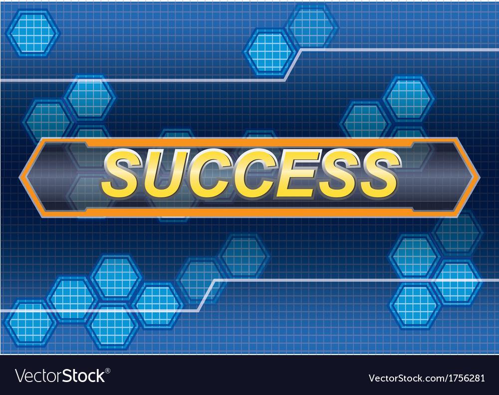 Success hitech vector | Price: 1 Credit (USD $1)