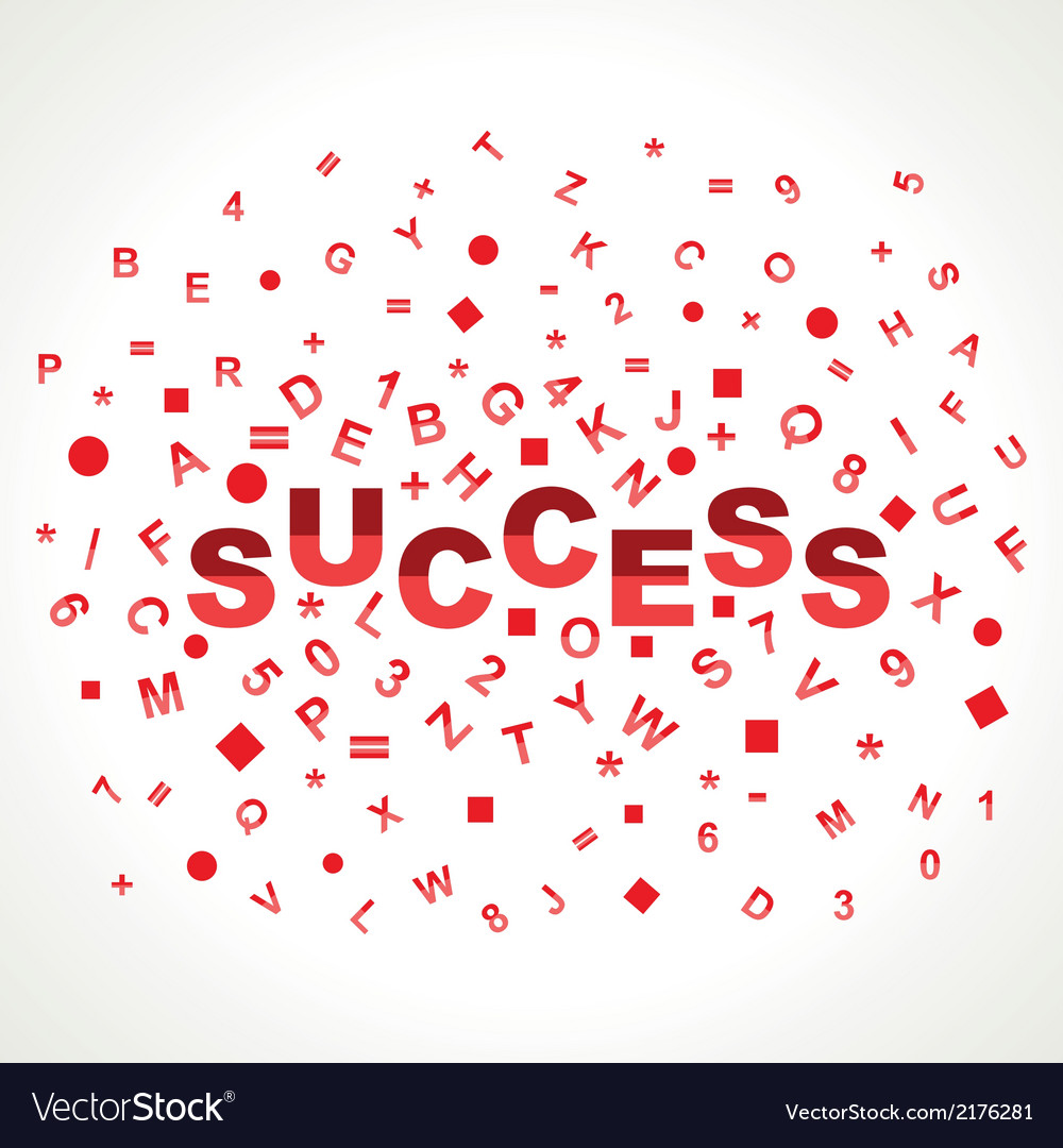 Success word with in alphabets vector | Price: 1 Credit (USD $1)