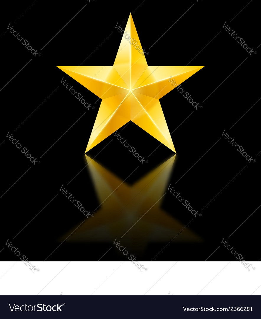 Yellow star on black vector | Price: 1 Credit (USD $1)