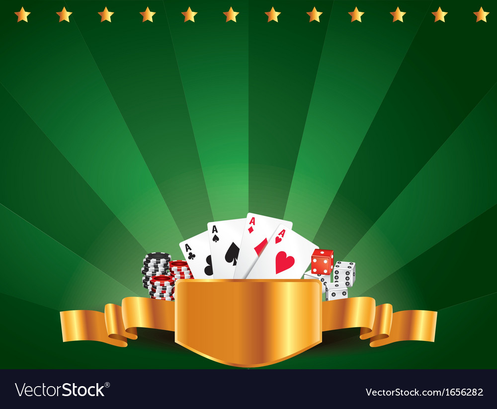 Casino horizontal background vector | Price: 1 Credit (USD $1)