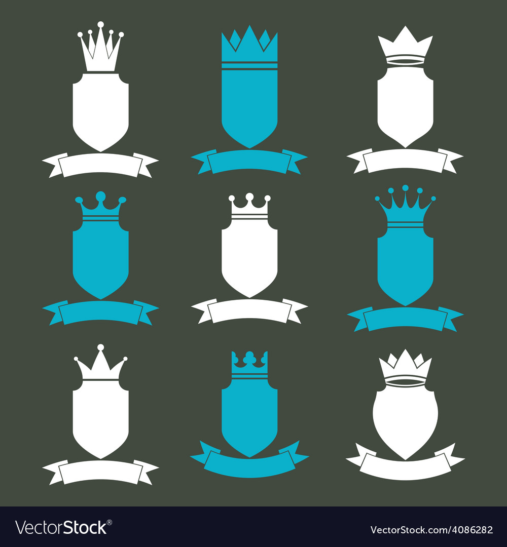 Collection of empire design elements heraldic vector | Price: 1 Credit (USD $1)