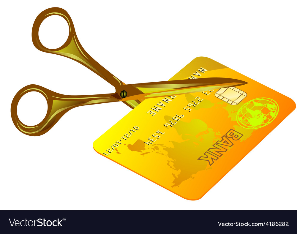 Credit card cut out vector | Price: 1 Credit (USD $1)