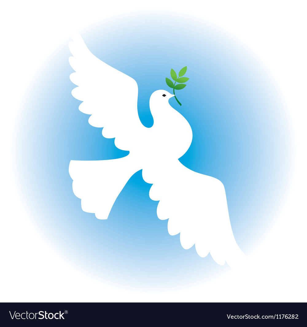 Dove with branch vector | Price: 1 Credit (USD $1)