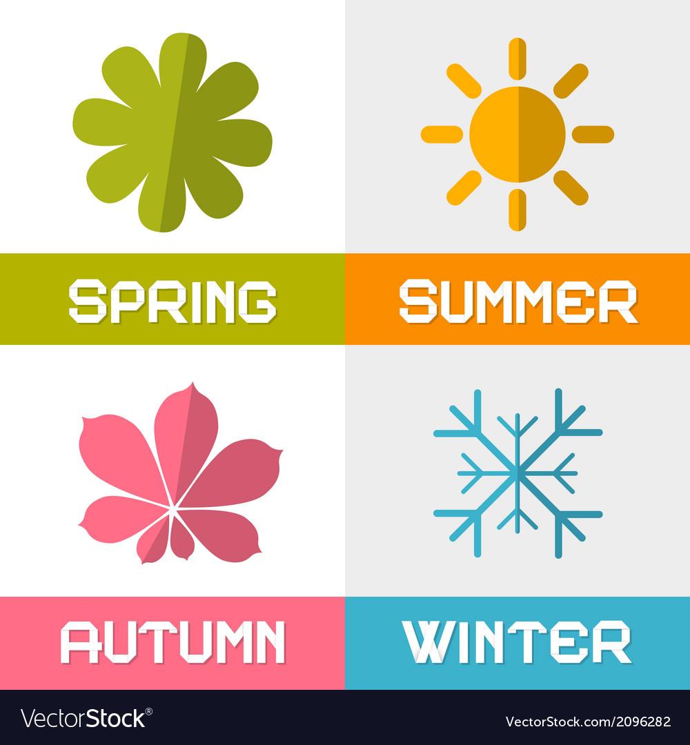 Four seasons vector   Price: 1 Credit (USD $1)