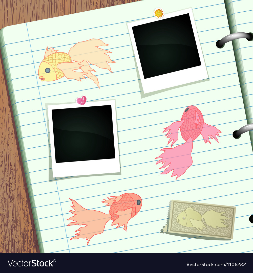 Goldfish scrapbook vector | Price: 1 Credit (USD $1)