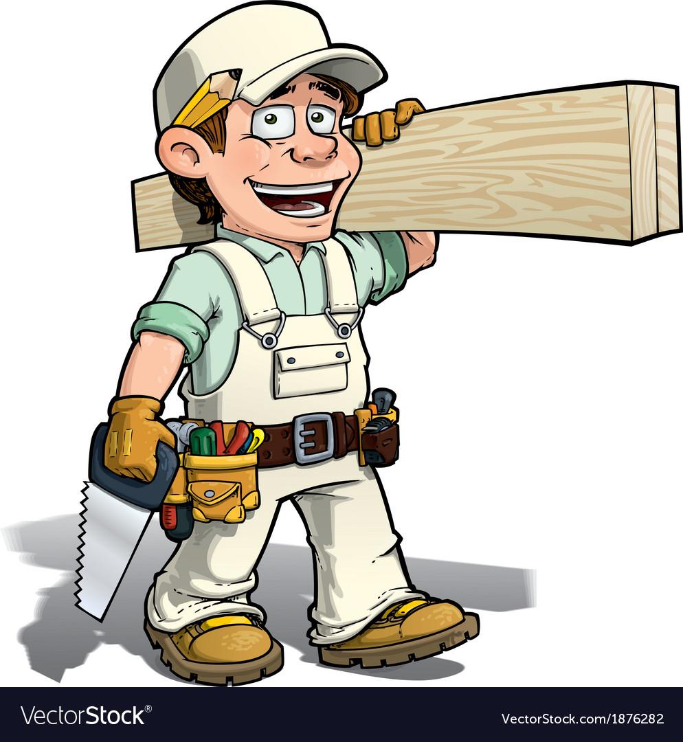 Handyman carpenter white vector | Price: 3 Credit (USD $3)