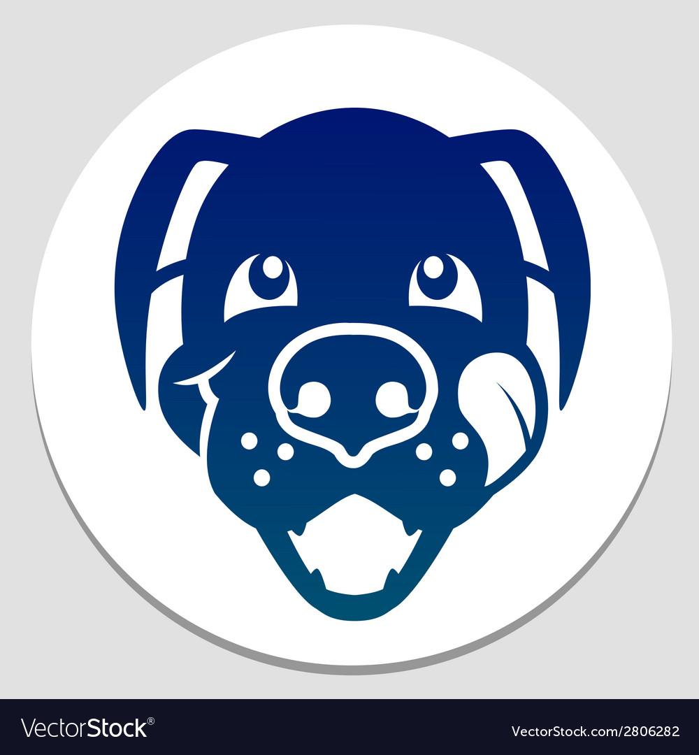 Happy fed dog symbol vector | Price: 1 Credit (USD $1)