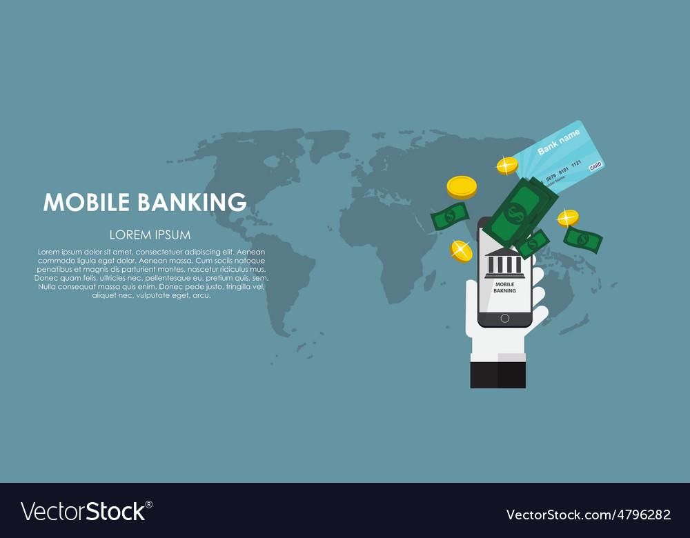 Mobile banking  flat computing vector   Price: 1 Credit (USD $1)