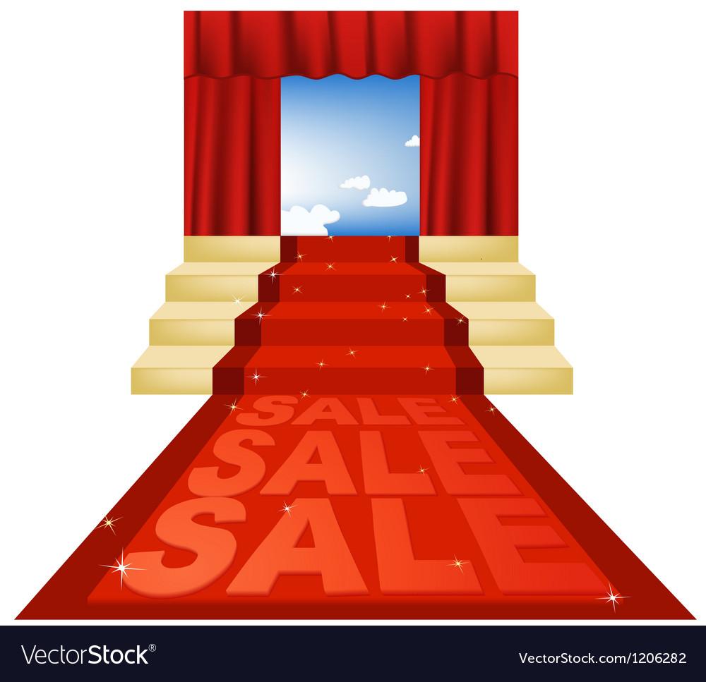 Sale red carpet vector | Price: 1 Credit (USD $1)