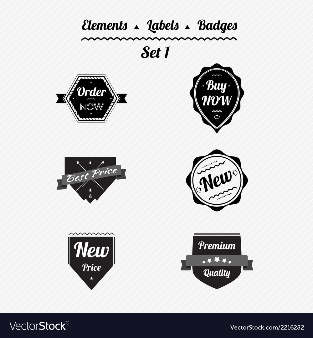 Set 1 elements labels and badges vector | Price: 1 Credit (USD $1)